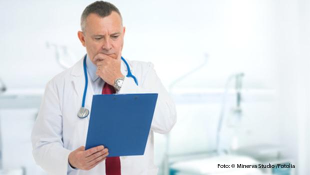 Blutgaswert analyse beim Arzt
