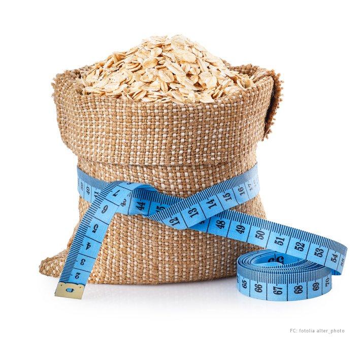 Hafer mit Milch oder Wasser zur Gewichtsreduktion